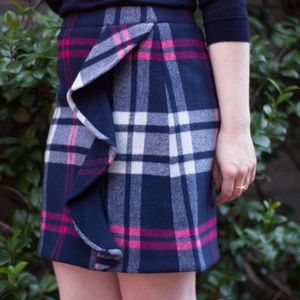 Size 4 J Crew Mercantile Plaid skirt!